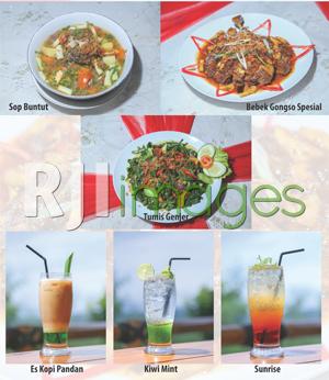 Aneka menu hidangan Rajaklana Resto