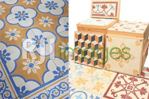 Aplikasi tegel motif sebagai home decor