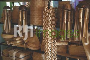 Berbagai jenis produk kerajinan bambu