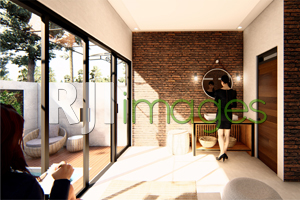 Bukaan lebar dibuat supaya banyak pencahayaan alami untuk masuk ke dalam rumah