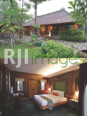 Fasad Ratu Ratih Room dan Ruang kamar tipe Deluxe