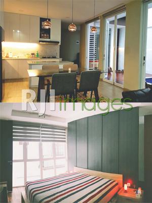 Interior dapur,ruang makan lantai 1 dan interior master bedroom