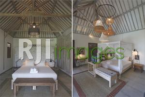 Interior kamar tipe Star Room dan Sun Room bernuansa bohemian