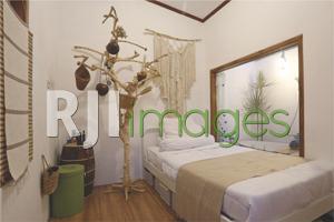 Kamar tidur Van Dijk House bergaya bohemian