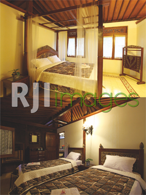 Kamar tipe King size bed di guesthouse