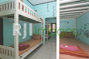 Kamar tipe dormitory dengan ranjang bertingkat