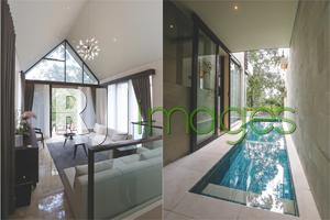 Living room modern yang cozy dan Fasilitas private swimming pool