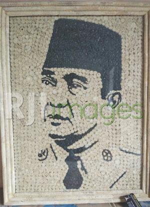 Lukisan Bung Karno dari bonggol jagung