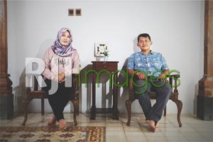 Novian Arif Wibowo bersama istri