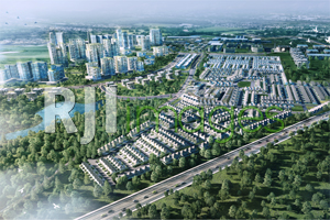 Perspektif bird view masterplan Kedaton Homes @BSB City