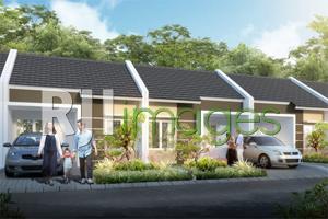 Perspektif deretan model rumah komersial tipe 36 Nawa Village Pleret