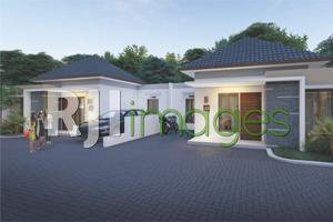 Perspektif deretan rumah tipe 36 (lebar depan 8,5 meter) Nawa Residence Bangunji