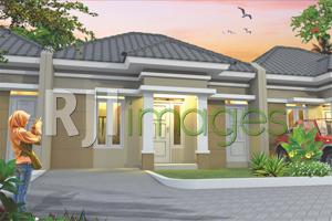 Perspektif hunian tipe 36 Hinggil Mansion Residence