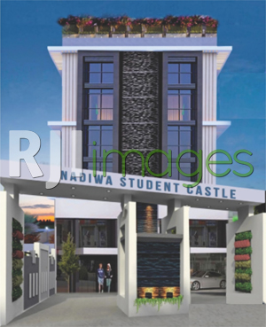 Perspektif kawasan hunian Nadiwa Student Castle