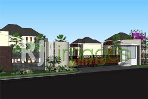 Perspektif maingate Taman Anggrek Trunuh Klaten