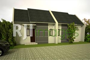 Perspektif model rumah komersial tipe 27 Arthaka Village