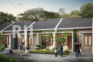 Perspektif rumah tipe 30 Taman Melati Kurung Klaten