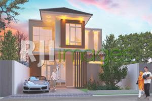 Perspektif rumah tipe 72, Mutiara Gading Residence