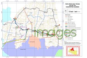 Peta Rencana Trase Jalan TOL Kabupaten Sleman