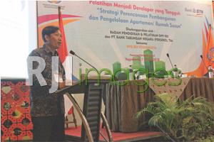 Sambutan dari Wakil Ketua DPD REI DIY bidang Diklat, Hugi Kahyadi