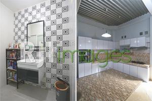 Sudut bathroom dengan fasilitas modern dan Area dapur berkonsep minimalis
