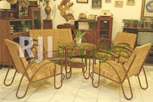 Table set rotan klasik