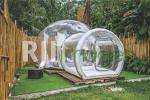 Bubble tent sebagai kamar tidur dengan gaya layaknya rumah Joglo