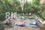 Contoh pemanfaatan ruang luar untuk area yoga