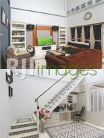 Kesan nyaman dan lapang di ruang keluarga & Working space memanfaatkan ruang baw