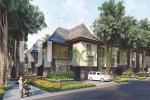 Perspektif deretan rumah berkonsep tropis Hyarta Ecovillage